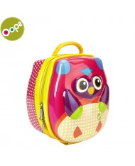 Oops Owl 3D Colorful Thermal Lunchbox for kids from 18m+ (16.6x19.2x12cm) Pink 31004.12