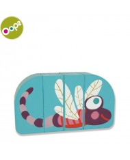 Oops Dragonfly Wooden Magnetic Puzzle for kids from 12m+ (Box size 16x3.4x11cm) Blue 16007.31
