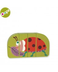 Oops Ladybug Wooden Magnetic Puzzle for kids from 12m+ (Box size 16x3.4x11cm) Green 16007.33