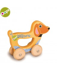 Oops Dog Wooden Hand Running Toy for kids from 9m+ (17x6.5x19cm) Colorful 17008.22