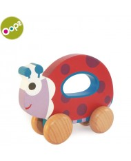 Oops Ladybug Wooden Hand Running Toy for kids from 9m+ (17x6.5x19cm) Colorful 17008.22