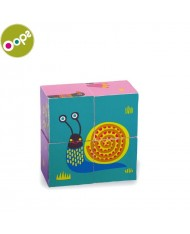 Oops Forest Wooden Blocks (4pcs) Toy for kids from 12m+ (12.8x3.8x12.8cm) Colorful 16009.10