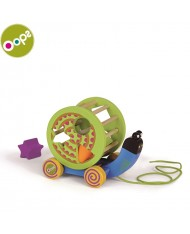 Oops Snail Wooden Activity Rolling and shape sorting Toy for kids from 12m+ Colorful 17002.13
