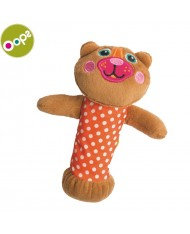 Oops Bear Squeaker Toy for kids from 0m+ (20x4x12cm) Brown 13006.11