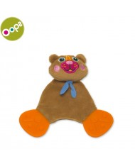 Oops Bear Comforter Teething Toy for kids from 0m+ (21x5x12cm) Brown 10008.11
