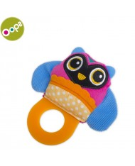 Oops Owl Teething soft Toy for kids from 3m+ (17x4x12cm) Colorful 13007.12