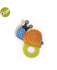 Oops Snail Teething soft Toy for kids from 3m+ (17x4x12cm) Colorful 13007.13
