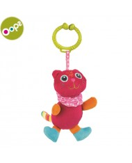 Oops Cat Pendant Vibrating Toy for kids from 3m+ (36x8x12cm) Colorful 11014.21