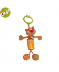 Oops Bear Rattle Toy for kids from 0m+ (38x4x12cm) Colorful 18002.11