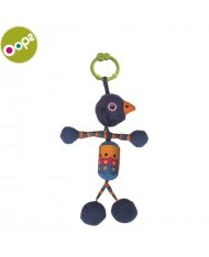Oops Peacock Rattle Toy for kids from 0m+ (38x4x12cm) Colorful 18002.14