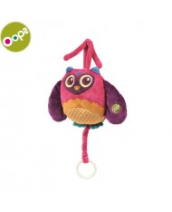 Oops Owl Soft Lovable Carillon Toy with melody for kids from 0m+ (19.3x21x7cm) Colorful 12002.12