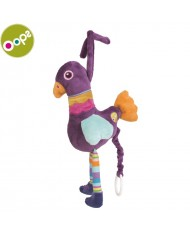 Oops Peacock Soft Lovable Carillon Toy with melody for kids from 0m+ (19.3x21x7cm) Colorful 12002.14