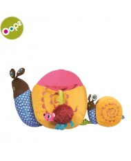 Oops Snail Multi-activity Toy for kids from 3m+ with vibrating pull tail / squeaker and teethers Colorful 11003.00