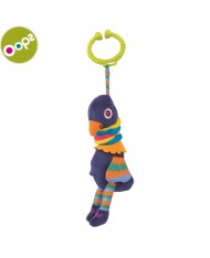 Oops Peacock Pendant Vibrating Toy for kids from 3m+ (36x8x12cm) Colorful 11014.14