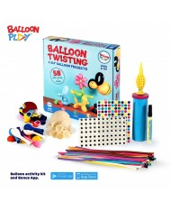 BalloonPlay Pro Balloon Animals Shape Creating Activity Kit with Pump and Dedicated Video Learning App