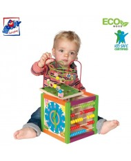 Woody 90837 Eco Wooden Educational Multi-activity instructional labyrinth-cube (3pcs) for kids 3y+ (21x36cm)