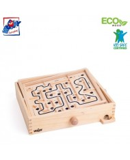Woody 90915 Educational and Fun family games - labyrinth with a ball (3pcs) for kids 5y+ (28x23.5x6.5cm)