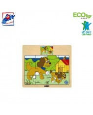 Woody 93010 Eco Wooden Educational Puzzle - Dogs (12pcs) for kids 3y+ (17x13cm)