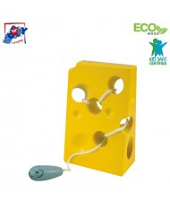 Woody 90470 Eco Wooden Educational hand motoric skills - Lacing cheese and mouse for kids 3y+ (11x17cm)