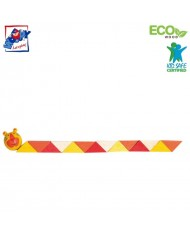 Woody 90491 Eco Wooden Educational hand motoric skills - Yellow Snake for kids 3y+ (21cm)