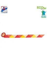 Woody 90491 Eco Wooden Educational hand motoric skills - Orange Snake for kids 3y+ (21cm)