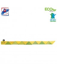 Woody 90491 Eco Wooden Educational hand motoric skills - Green Snake for kids 3y+ (21cm)