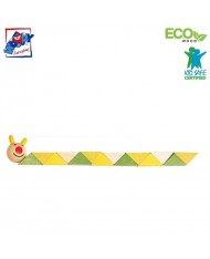 Woody 90491 Eco Wooden Educational hand motoric skills - Snake for kids 3y+ (21cm)