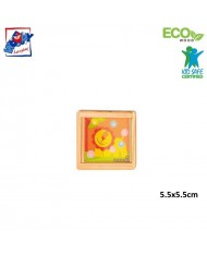 Woody 90767 Eco Wooden Educational hand motoric skills - ball puzzle - Lion for kids 3y+ (5.5x5.5cm)