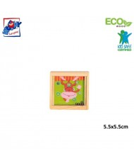 Woody 90767 Eco Wooden Educational hand motoric skills - ball puzzle - Monkey for kids 3y+ (5.5x5.5cm)