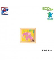 Woody 90767 Eco Wooden Educational hand motoric skills - ball puzzle - Elephant for kids 3y+ (5.5x5.5cm)