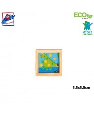 Woody 90767 Eco Wooden Educational hand motoric skills - ball puzzle - Dinosaur for kids 3y+ (5.5x5.5cm)