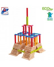 Woody 95004 Eco Wooden Educational Colored building bricks (200pcs) for kids 3y+