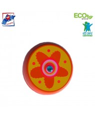 Woody 90735 Eco Wooden Orange with Flower Yo-Yo for kids 3y+ (6cm)