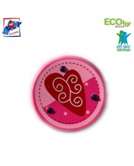 Woody 90735 Eco Wooden Pink with heart Yo-Yo for kids 3y+ (6cm)