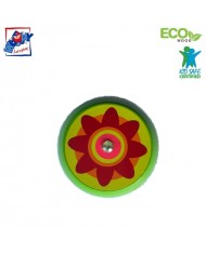 Woody 90735 Eco Wooden Green with Flower Yo-Yo for kids 3y+ (6cm)