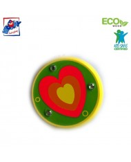 Woody 90735 Eco Wooden Yellow with heart Yo-Yo for kids 3y+ (6cm)