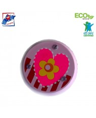 Woody 90735 Eco Wooden Light pink with heart Yo-Yo for kids 3y+ (6cm)