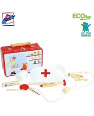Woody 90847 Toddler Doctor atributic things set in a metallic carry case (10pcs) for kids 3y+ (19.5x14.5x7cm)