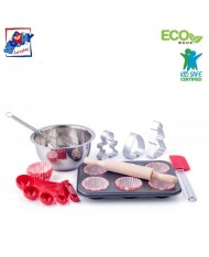 Woody 91878 Eco Wooden / Metal / Plastic Educational Kitchen set - Baiking muffins (10pcs) for kids 3y+