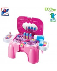 Plastica 91609 Plastic Pink Girls Beauty play set- chair (16pcs) for kids 3y+ (47x26x37cm)