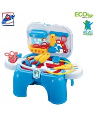 Plastica 91611 Plastic Blue Doctor Play set- chair (13pcs) for kids 3y+ (47x26x37cm)