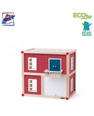 Woody 91330 Eco Wooden Modern Villa-cube playing house (11pcs) for kids 3y+ (39.5x26.5x35cm)