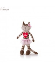 Lumpin 94084 Soft toy Angelique ballerina cat for kids 0+ years (small size 22.5cm)