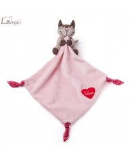 Lumpin 94110 Soft baby cloth for Baby - cat Angelique for kids 0+ years (30x30cm) Pink