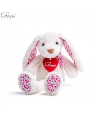 Lumpin 94116 Soft toy Ella white rabbit for kids 0+ years (small size 23cm)