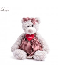 Lumpin 94117 Soft toy Sára teddy bear girl in a dress for kids 0+ years (small size 24cm)