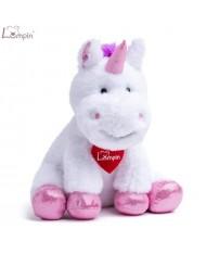 Lumpin 94118 Soft toy Lucy Lu unicorn (20cm) White / Pink