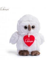 Lumpin 94125 Soft toy Merlin white owl for kids 0+ years (small size 15cm)