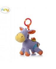 """Niny 700005 Soft pendant toy - Cute donkey """"LAKI"""" for kids 0+ years (23cm)"""
