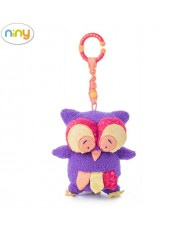 "Niny 700013 Soft pendant toy - Cuddly owl ""HOKU"" for kids 0+ years (22cm)"
